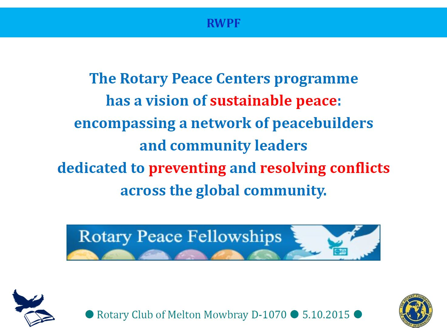 Peace Fellow presentation