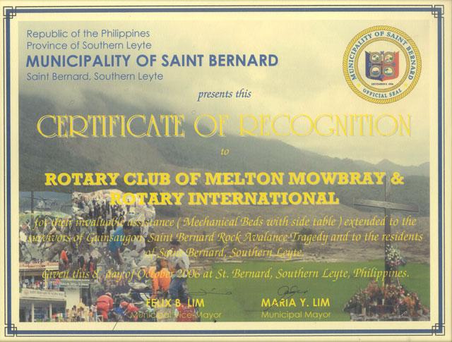 Melton Mowbray Rotary Club History